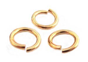Gold Tone Jump Rings ~ 7.5mm 16g x 9gms approx 40