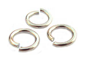 Silver Tone Jump Rings ~ 7.5mm 16g x 9gms approx 40