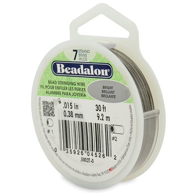 Beadalon Stringing Wire 7 Strands .015 (.38mm) Bright