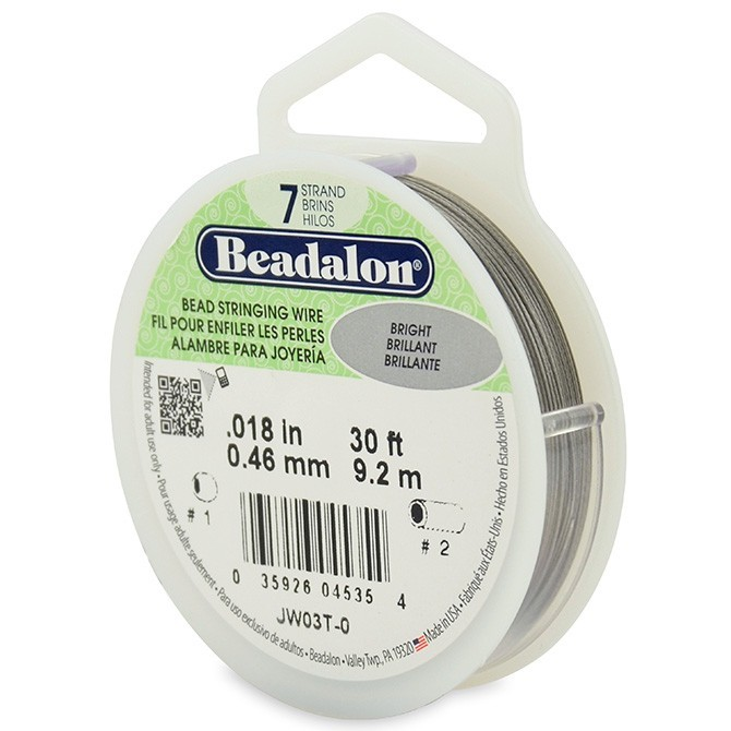 Beadalon Stringing Wire 7 Strands .018 (.46mm) Bright