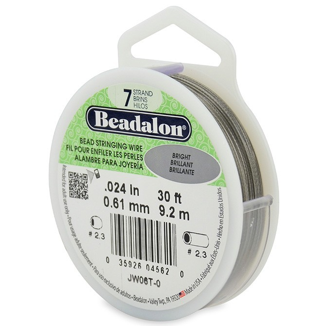 Beadalon Stringing Wire 7 Strands .024 (.61mm) Bright