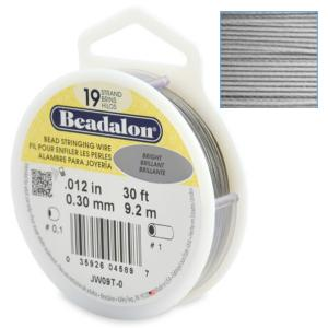 Beadalon Stringing Wire 19 Strands .012 (.30mm) 30 ft/9.2m Bright
