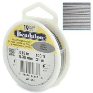 Beadalon Stringing Wire 19 Strands .015 (.38mm) Bright