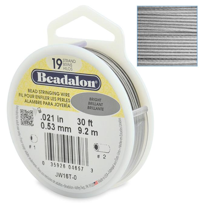 Beadalon Stringing Wire 19 Strands .021 (.53mm) Bright