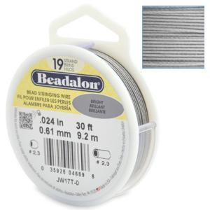 Beadalon Stringing Wire 19 Strands .024 (.61mm) Bright