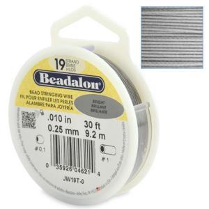 Beadalon Stringing Wire 19 Strands .010 (.25mm) 30 ft/9.2m Bright