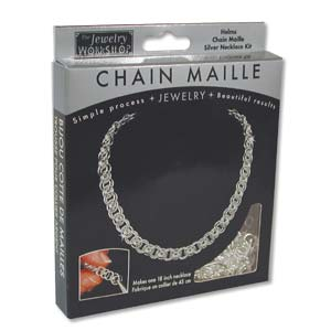 The Jewellery Workshop - Helms - Chain Maille KIT - Necklace - Silver Colour