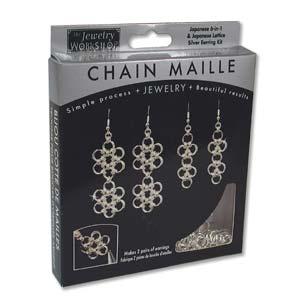 The Jewellery Workshop - Japanese 6-in-1 and Lattice - Chain Maille KIT - Earrings - Silver Colour