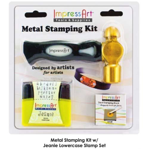 Deadstocked Jeanie 4mm Alphabet Metal Stamping Kit Lower Case Letter Set Impressart Original