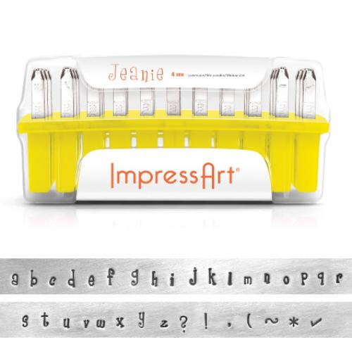 ImpressArt Jeanie 4mm Alphabet Lower Case Letter Metal Stamping Set