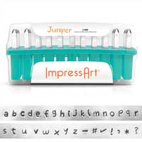ImpressArt Juniper 3mm Alphabet Lower Case Letter Metal Stamping Set