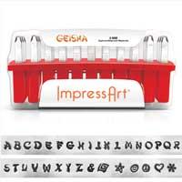 ImpressArt Geisha 4mm Alphabet Upper Case Letter Metal Stamping Set