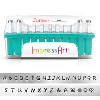 ImpressArt Juniper 3mm Alphabet Upper Case Letter Metal Stamping Set