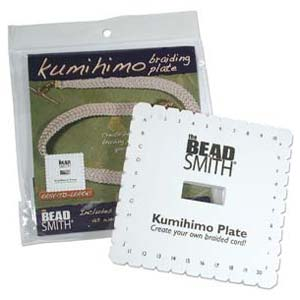 Beadsmith Kumihimo 6 inch Square Braiding Plate Disk Disc (with instruction)