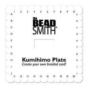 Beadsmith Kumihimo 6 inch Square Braiding Plate Disk Disc