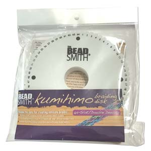 Beadsmith Kumihimo 64 slot Double Density 6 inch Round Braiding Disk Disc (with instruction)