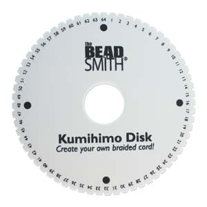 Beadsmith Kumihimo 64-slot Double Density 6 inch Round Braiding Disk Disc