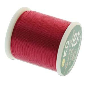 KO Beading Thread, Scarlet Pink, 50m, 55 yds