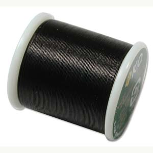 KO Beading Thread, Black, 50m, 55 yds