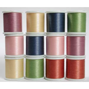 KO Beading Thread Box of x12 spools 50m, 55 yds each (Assortment 2)