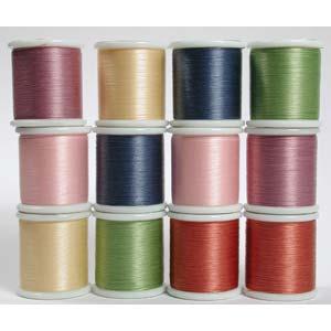 KO Beading Thread Box of x12 spools 50m, 55 yds each (Assortment 2)