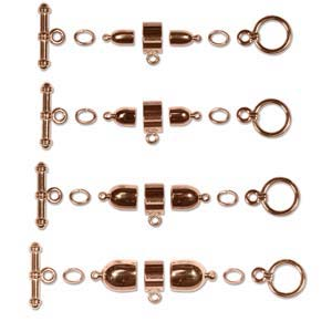 Kumihimo Findings Sets Copper Plated Bullet (all four sizes)