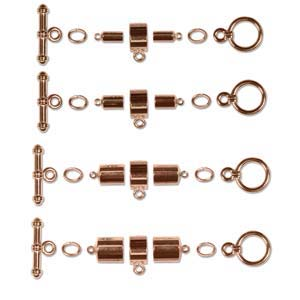 Kumihimo Findings Sets Copper Plated Barrel (all four sizes)