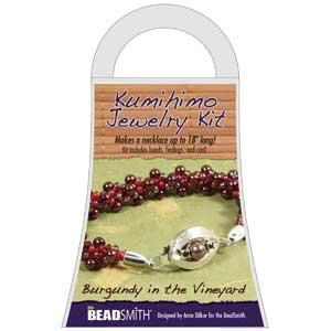 Beadsmith Kumihimo Jewellery Kit - Burgundy in the Vineyard