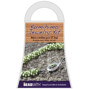 Beadsmith Kumihimo Jewellery Kit - Two-Toned Olive