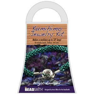 Beadsmith Kumihimo Jewellery Kit - Bright Emerald
