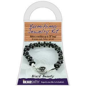 Beadsmith Kumihimo Jewellery Kit - Black Beauty