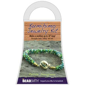 Beadsmith Kumihimo Jewellery Kit - Petite Evergreen