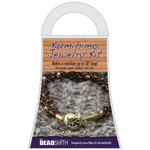 Beadsmith Kumihimo Jewellery Kit - Root Beer Float