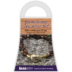 Beadsmith Kumihimo Jewellery Kit - Root Beer Float