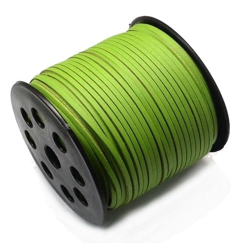 Faux Leather Leatherette Flat Cord 2.7-3mm Kiwi per metre