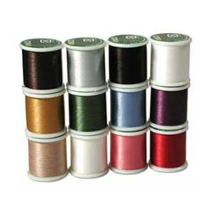 KO Beading Thread Box of x12 spools 50m, 55 yds each (Assortment 1)