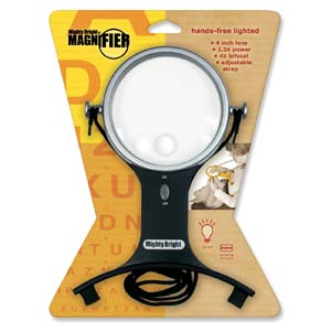 Mighty Brighty - Lighted Hands Free Magnifier ( 1.5&4X)