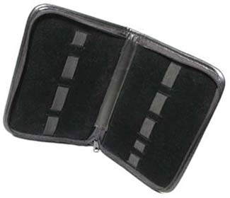 Beadsmith 9 Band Black Leatherette Storage Case 23x16cm