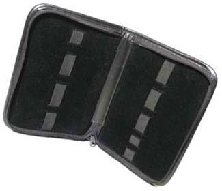 Beadsmith 9 Band Black Leatherette Storage Case 23x16cm