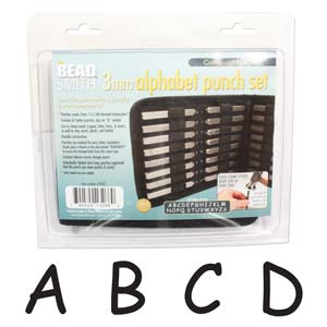 Beadsmith 3mm Upper Case Comic Sans Font  Alphabet Letter Metal Stamp Punch Set in Case x1