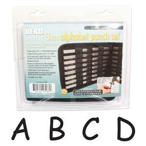 Beadsmith Comic Sans Alphabet Upper Case Letter 3mm Stamping Set