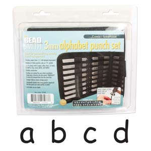Beadsmith Comic Sans Alphabet Lower Case Letter 3mm Stamping Set