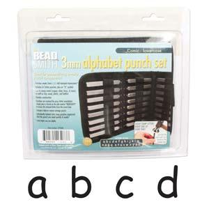 Beadsmith Comic Sans Alphabet Lower Case Letter 3mm Stamping Set