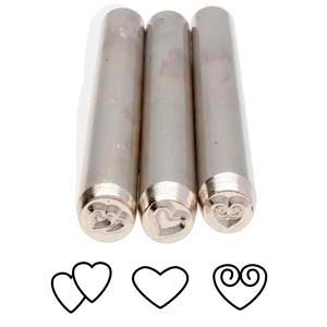 Love Trio (3-piece Set) Metal Stamping Design Punches - Metal Complex