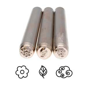 Eco-Chic Trio (3-piece Set) Metal Stamping Design Punches - Metal Complex