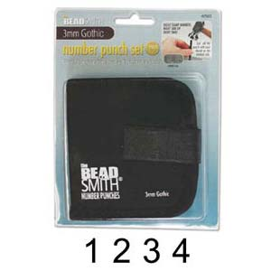 Beadsmith Gothic Number 3mm 1/8 Stamping Punch Set