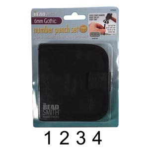 Beadsmith Gothic Number 6mm 1/4 Stamping Punch Set