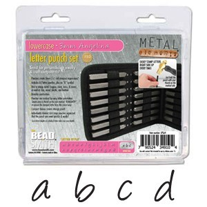 Angelina Alphabet Lower Case Letter 3mm Stamping Set - Beadsmith Metal Elements
