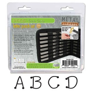 Beadsmith Dots Alphabet Upper Case Letter 3mm Stamping Set - Beadsmith Metal Elements