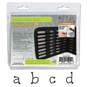 Dots Alphabet Lower Case Letter 3mm Stamping Set - Beadsmith Metal Elements